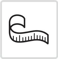 A tape measure icon from the lifehackr diet plan webpage - https://lifehackrdiet.com