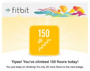 Fitbit 150 floors in a day badge
